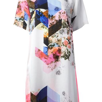 Preen By Thornton Bregazzi Mixed Print Shift Dress