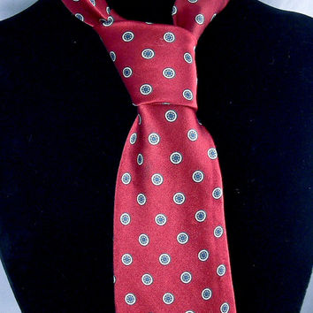 Vintage Christian Dior Red Silk Tie