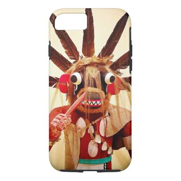 Cute red & brown funny face photo cell phone case