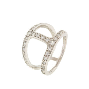 H Ring in Silver