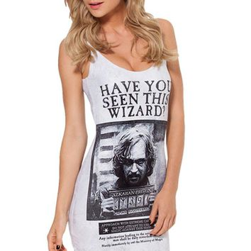 'Have You Seen This Wizard?' Black And White Mini Dress