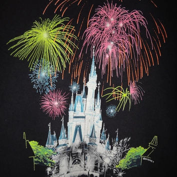 On Sale 25% Off Rare Vintage MICKEY MAGIC Kingdom T Shirt Fantasyland Cattle Mickey and Minnie Mouse Walt Disney World Vtg Top & Tee