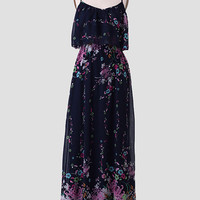 Whimsical Wanderer Floral Maxi Dress