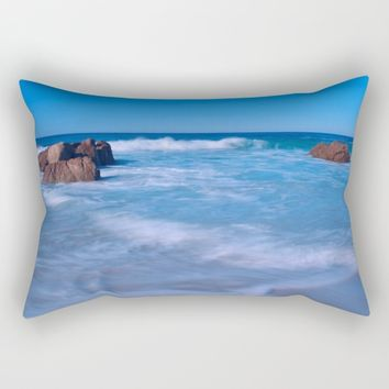 Baby Blues Rectangular Pillow by Leah Poquette