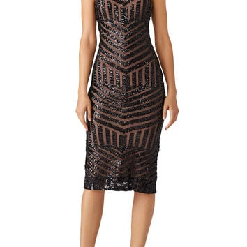 Slate & Willow Black Sequin Susie Dress