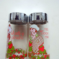 Vintage Strawberry Shortcake Salt and Pepper Shakers 1980