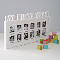 'My First Year' Photo Frame
