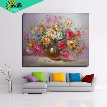 40*50 picture  quadros home decor wall art Flower arrangement DIY digital oil painting on canvas painting by numbers WX02