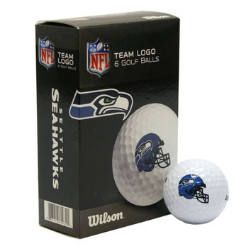 Seattle Seahawks White Golf Balls Pack of 6