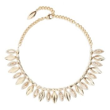 St. John Collection Swarovski Crystal Leaf Collar Necklace | Nordstrom