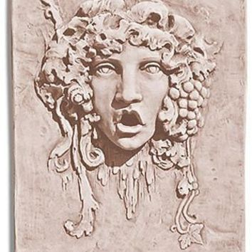 Bacchus without Beard Relief Large, Cement for Garden 28H