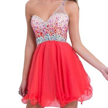 Babyonline Sexy Bead Prom Dresses 2016 Short for Juniors Mini Backless Gowns