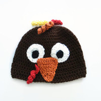 Baby Turkey Hat, Crochet Animal Hat