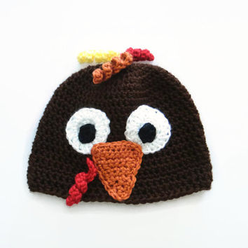 Baby Turkey Hat, Crochet Animal Hat from Precious Bowtique Knit