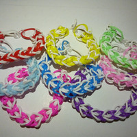 Loom Band Multi-Colour Bracelets
