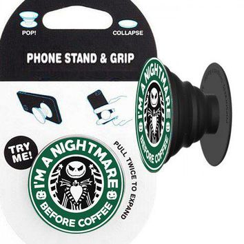 Nightmare Before Coffee (Jack) Phone Stand & Grip