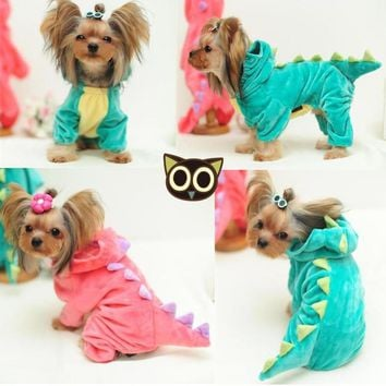 Funny Dog Custome Pet Dragon Puppy Coat Dinosaur Clothes Dressing Up Teddy Hoodies Chihuahua Jersey Clothing for Small Dogs 15