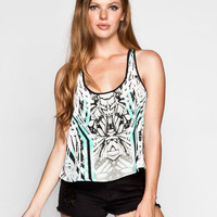 Fox Lucid Womens Crop Tank White  In Sizes