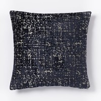 Jacquard Velvet Allover Textured Pillow Cover - Nightshade