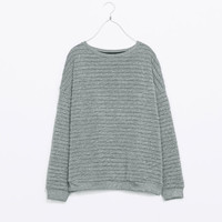 TEXTURED STRIPED SWEATSHIRT