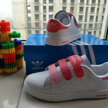 """""""Adidas Stan Smith"""" Women Sport Casual Multicolor Plate Shoes Sneakers Velcro Small Wh"""