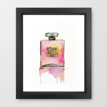 For The Love Of Chanel Framed Art Print by Talula Christian
