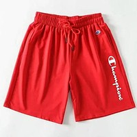 Champion Summer Men Casual Sports Running Shorts Red