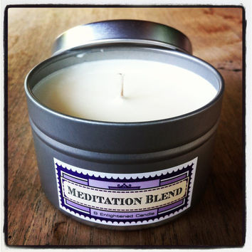 Eco-Soy Candle Meditation Yoga blend infused with pure organic essential oils VEGAN