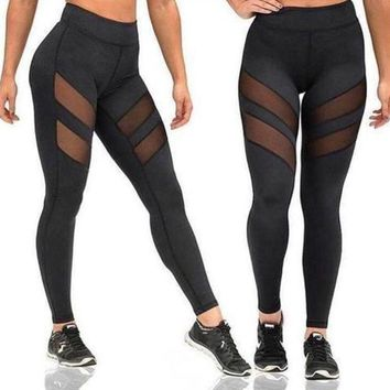 CREYC8S ACTIVEWEAR MESH PANEL LEGGINGS
