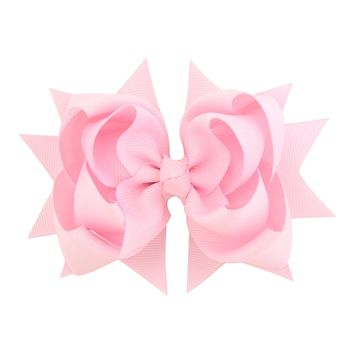 Newest 1piece Solid 4.7 Inch Grosgrain Ribbon Bows Accessories With Clip Boutique Bow Hairpins Hair Ornaments 722