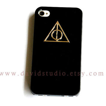 Iphone 4/4s Case, Harry potter Deathly Hallows iphone case, Black iphone case, iphone 4g case, for iphone 4, 4s, 4g case
