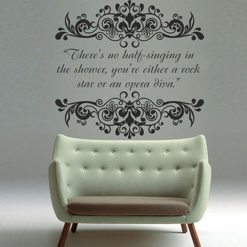 Interior Wall Decal Vinyl Sticker Art Decor Design pattern quote words of wisdom saying singing rock star opera diva Bedroom Modern (i59)
