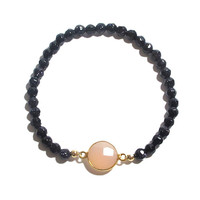 Black Coral Stretch Bracelet