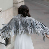 Swan Wings - Lady Icarus - bridal stole / shawl / bolero / wrap - unique piece