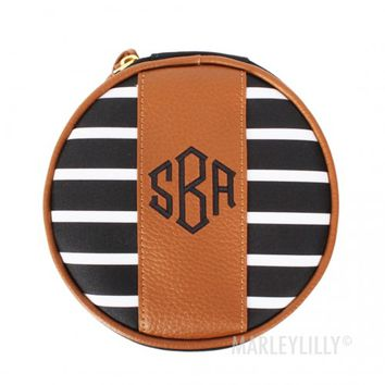 Monogrammed Travel Jewelry Case | Marleylilly