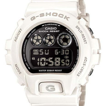 Casio Mirror Metallic G-Shock - White & Metallic Black - Flash Alert - 200m