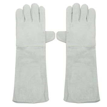 NEW Safurance 1 Pairs Long Cuff Soft Leather Welding Protective Gloves Heat Gear Fireproof Waterproof Workplace Safety