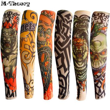 6 pcs Kid Size Tattoo Sleeve Arm Stockings Leggings Cool Rock Style 3D Tatoo Boys Girls Baby Shower Travel Wearings