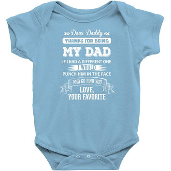 Dear Daddy, Love, Your Favorite Baby Onesuit