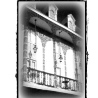 New Orleans Art Print, Lace Balcony, Black and White Fine Art, Architecture Art, 11x14 French Quarter Print