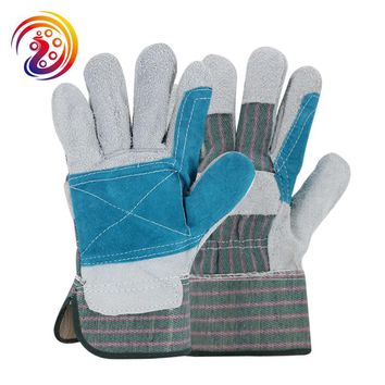 OLSON DEEPAK Cow Split Leather Factory Carrying Driving Gardening Welding Protective Work Gloves HY021 Free Shipping