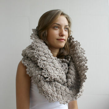 Free Shipping Infinity Loop Scarf Milky brown For Her for women and Gift under 60 Christmas Gift