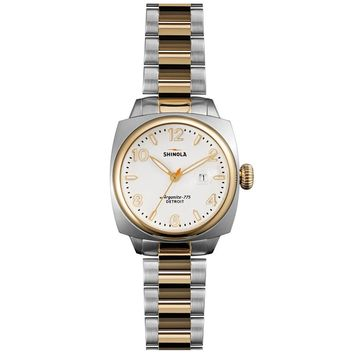 Ladies' Shinola 'The Brakeman' Two-Tone White Dial Watch