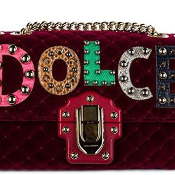 Dolce&Gabbana women's shoulder bag original lucia red