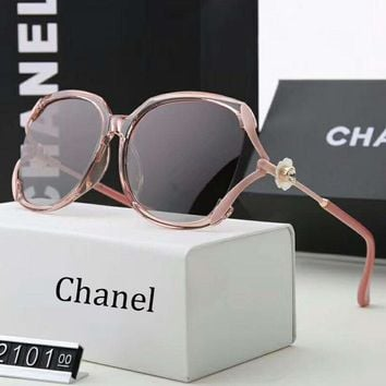 Chanel Fashion Women Casual Sun Shades Eyeglasses Glasses Sunglasses Pink+Brown G