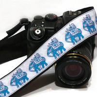 Lucky Elephants Camera Strap, dSLR Camera Strap, SLR, Nikon, Canon Camera Strap, Men, Women Accessories