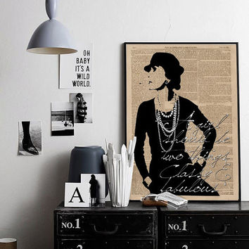 Inspirational Print Coco Chanel Poster Coco Chanel Quote Typography Quote Home Decor Motivational Poster Wall Art Coco Chanel Newspaper Art