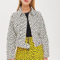 Monochrome Animal Print Shacket