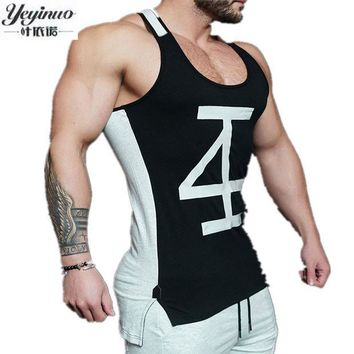 ESBONJ Fashion Men Cotton Tank Tops Sporting Military Singlets Style Vest Sexy Men's Bodybuilding Clothing Workout Tank Tops