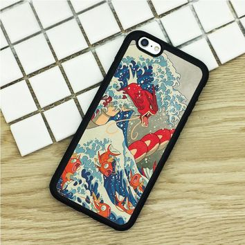 Soft TPU Phone Cases For iPhone 6 6S 7 Plus 5 5S 5C SE 4 4S ipod touch 4 5 6 Cover Shell Great Wave off Kanto sKawaii Pokemon go  AT_89_9